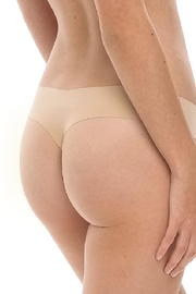 Commando Laser Cut Microfiber Thong - Front full body