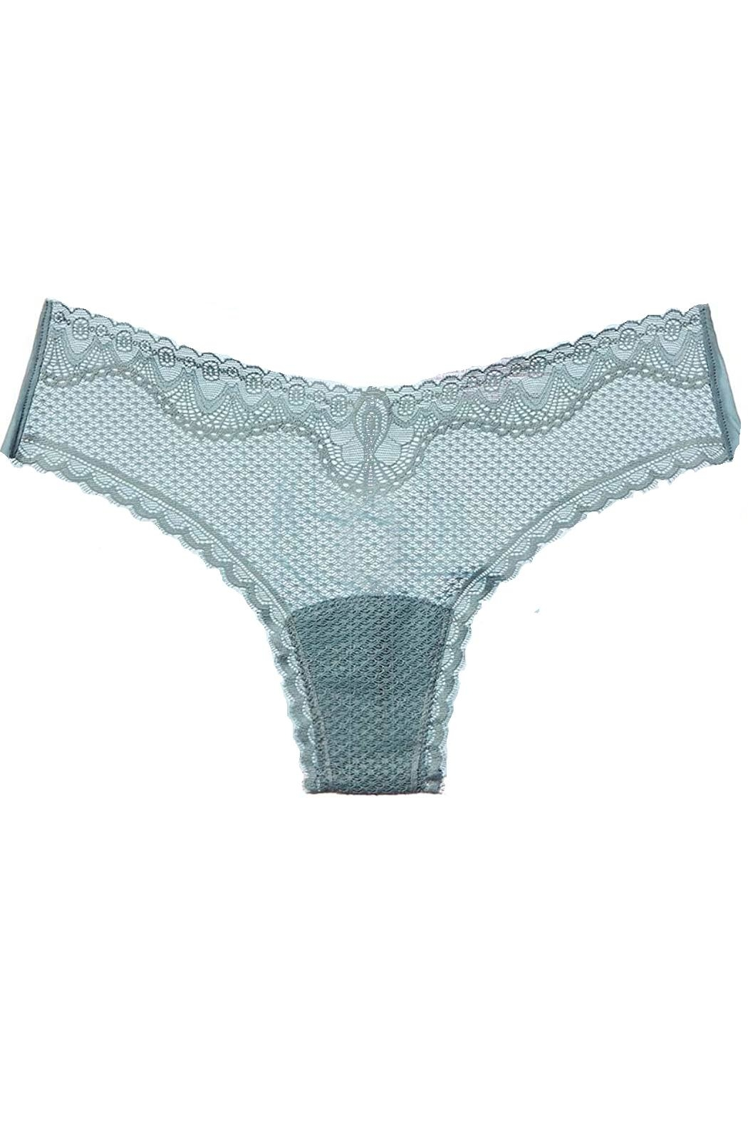 Commando Perfect-Stretch Seamless Thong - Back Cropped Image