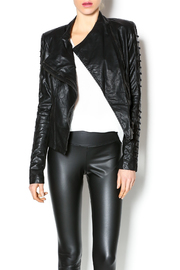 Comme Leatherette Rider Jacket - Product Mini Image
