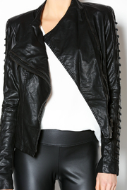 Comme Leatherette Rider Jacket - Other