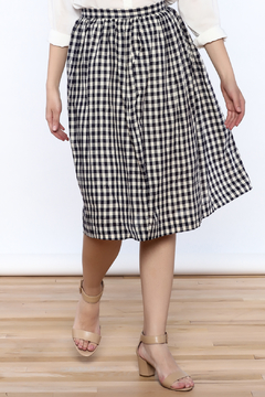 Comme Toi Classic Gingham Skirt - Product List Image