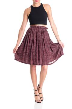 Comme Toi Belted Floral Skirt - Product List Image