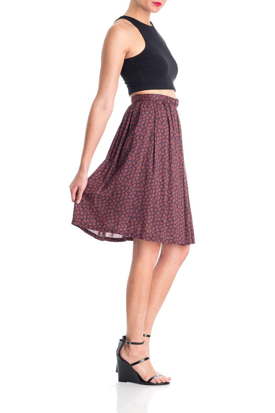 Comme Toi Belted Floral Skirt - Front Cropped Image
