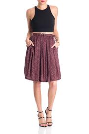 Comme Toi Belted Floral Skirt - Front full body