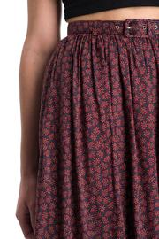 Comme Toi Belted Floral Skirt - Other