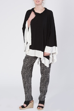 Shoptiques Product: Black Handkerchief Poncho