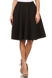 Comme Toi Black Textured Skirt - Front cropped