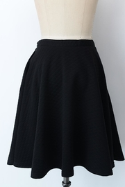 Comme Toi Black Textured Skirt - Front full body