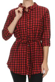Comme Toi Check Plaid Shirt - Product Mini Image