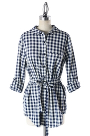 Comme Toi Checkered Navy Tunic - Product Mini Image