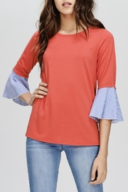 Comme Toi Contrast Sleeve Top - Product Mini Image