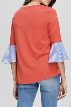 Comme Toi Contrast Sleeve Top - Alternate List Image