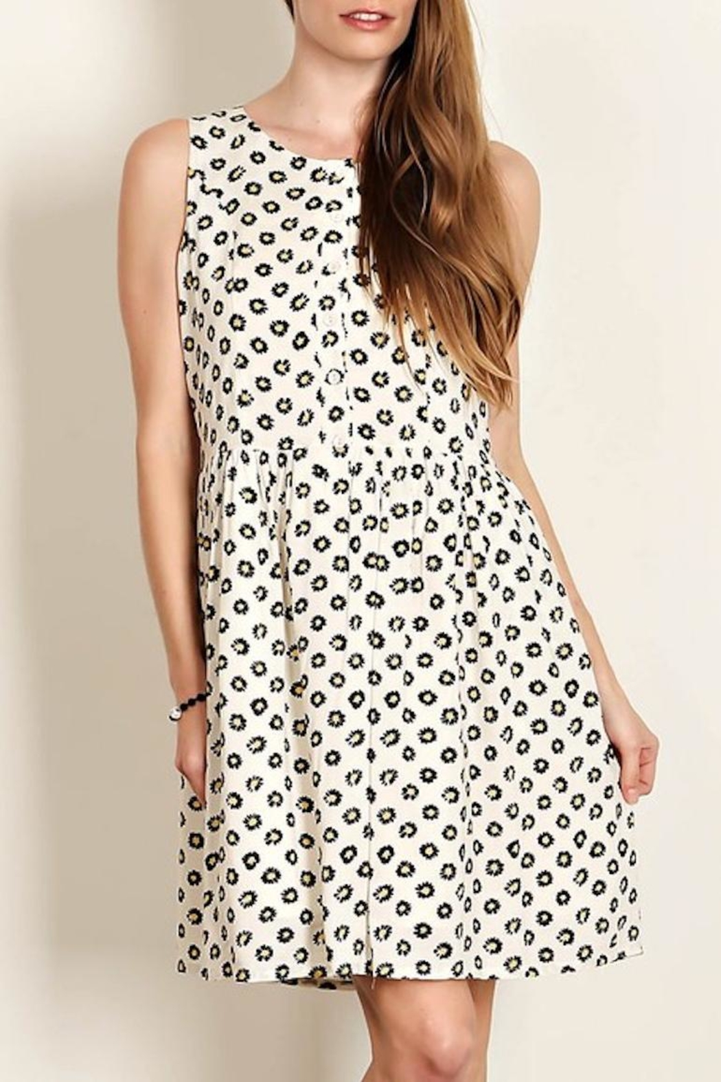 Comme Toi Daisy Cream Dress - Main Image