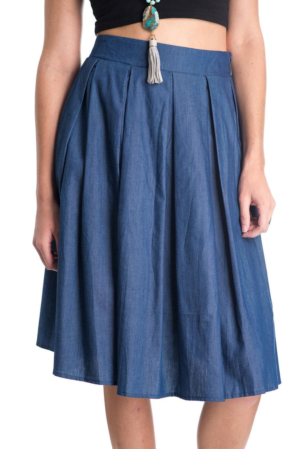 Comme Toi Denim A-Line Skirt from Florida by Crowder's Gifts ...
