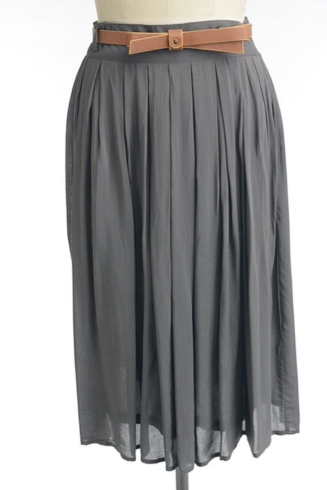 Comme Toi Favorite Grey Skirt - Main Image