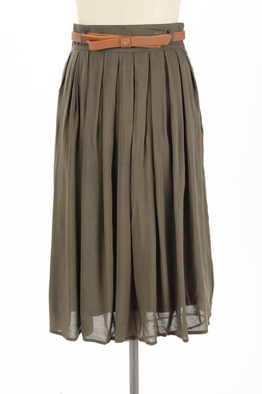Comme Toi Favorite Olive Skirt - Main Image