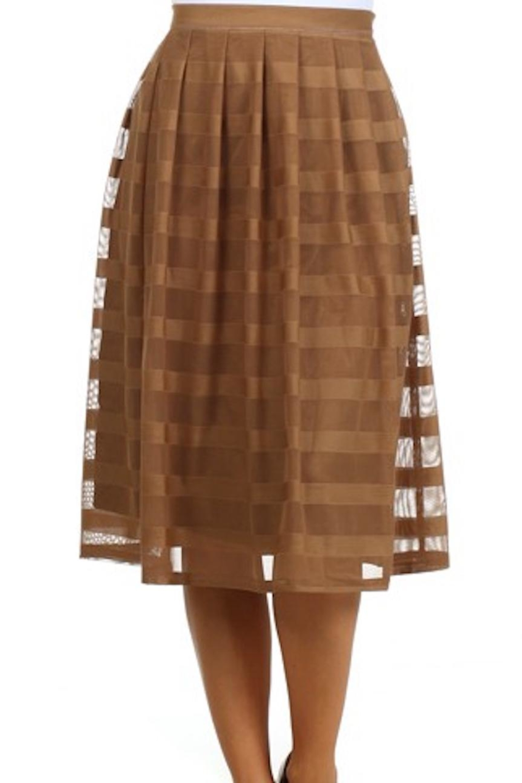 Comme Toi Mocha Coffe Skirt - Front Cropped Image