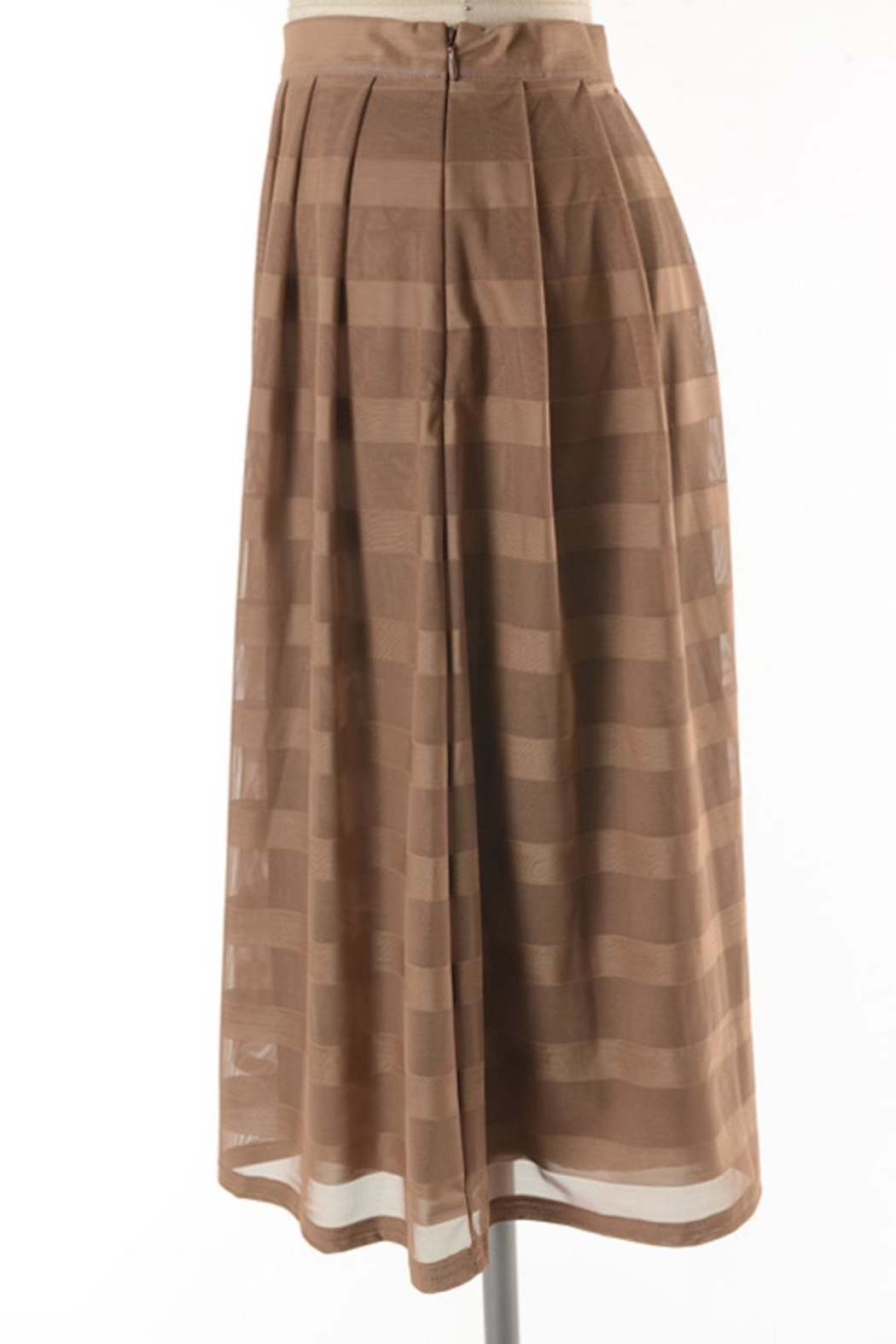 Comme Toi Mocha Coffe Skirt - Back Cropped Image