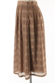Comme Toi Mocha Coffe Skirt - Back cropped