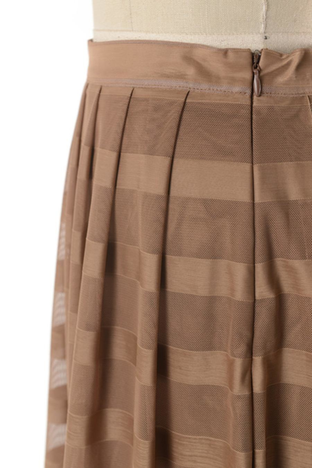 Comme Toi Mocha Coffe Skirt - Side Cropped Image
