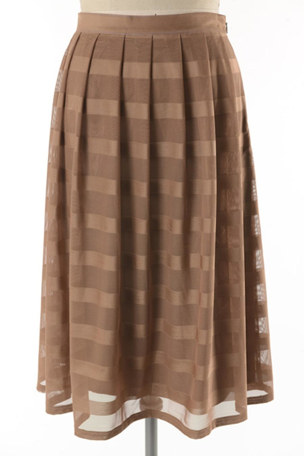 Comme Toi Mocha Coffe Skirt - Front Full Image