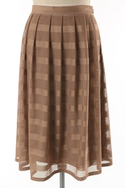 Comme Toi Mocha Coffe Skirt - Front full body