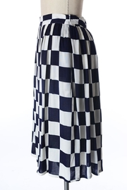 Comme Toi Navy Checkered Skirt - Front full body