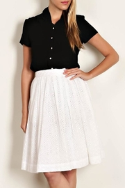Comme Toi White Eyelet Skirt - Product Mini Image
