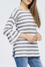 Comme Toi Wide Stripe Drop-Sleeve - Product Mini Image