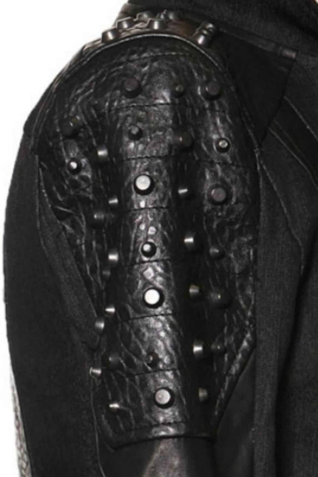 Comme USA Badass Studded-Moto Jacket - Back Cropped Image
