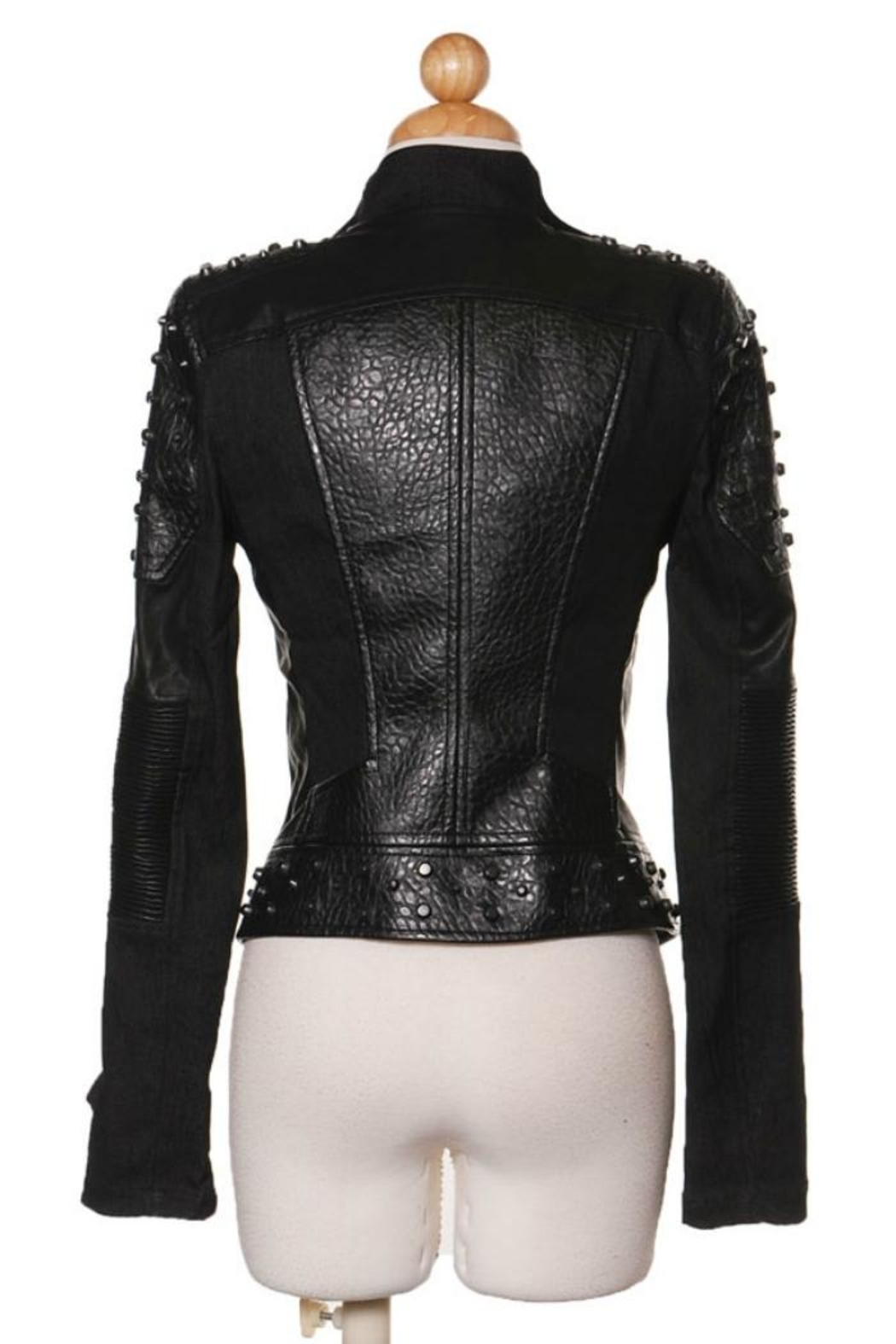 Comme USA Badass Studded-Moto Jacket - Front Full Image