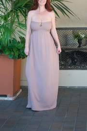Comme USA Strapless Pink Maxi - Product Mini Image