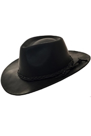 Compañia de Sombreros Leather Cowboy Hat - Front cropped