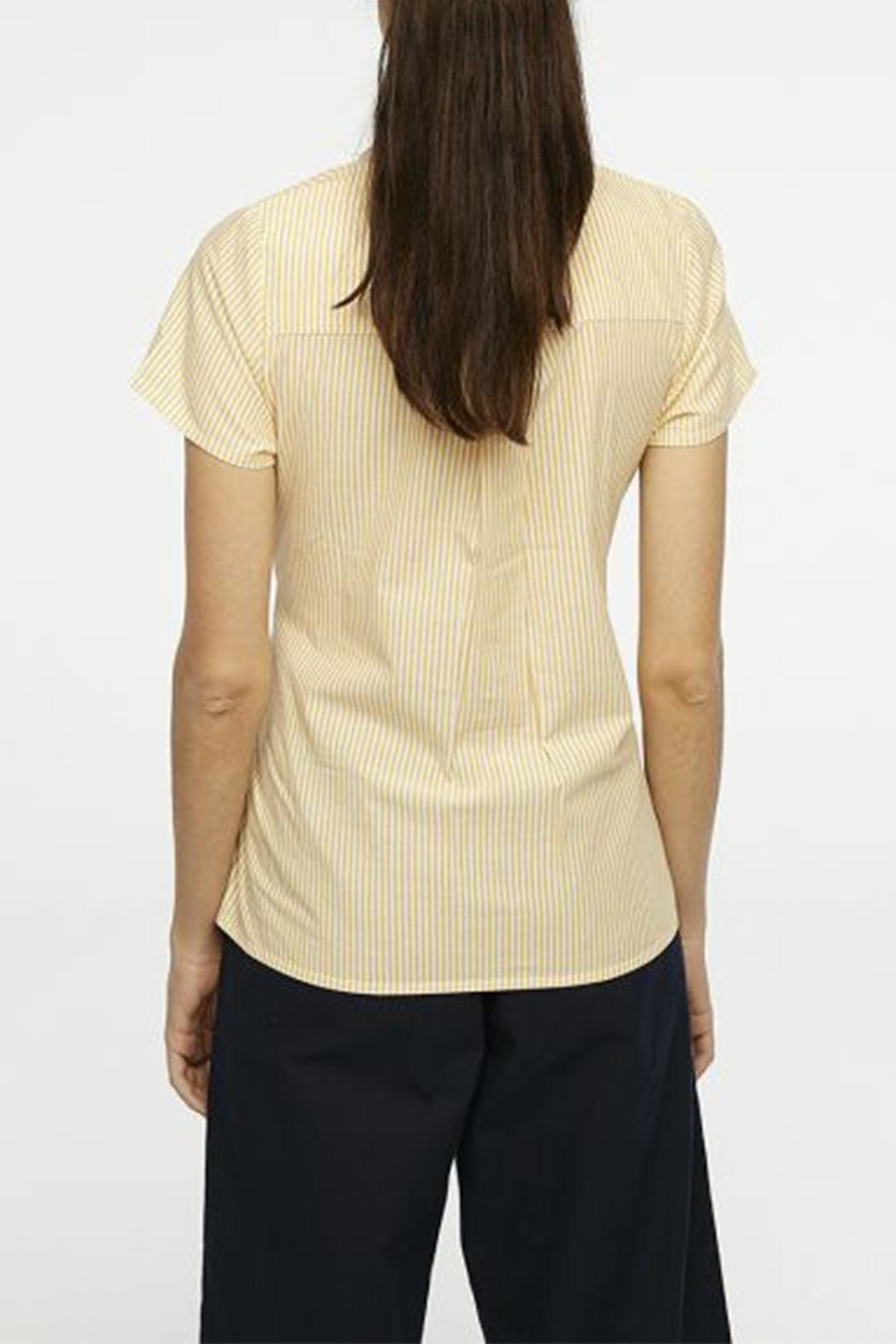 Compania Fantastica Bow Button-Up Shirt - Front Full Image