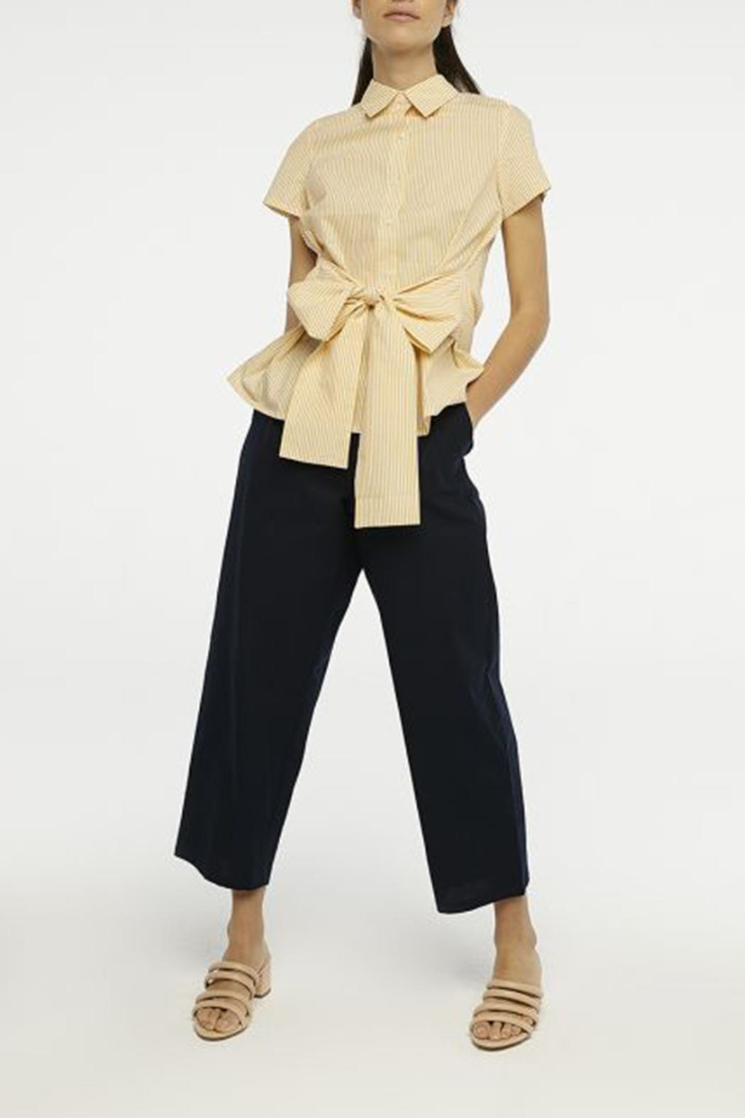 Compania Fantastica Bow Button-Up Shirt - Side Cropped Image