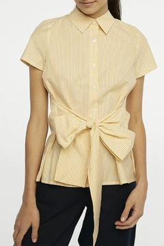 Compania Fantastica Bow Button-Up Shirt - Product List Image