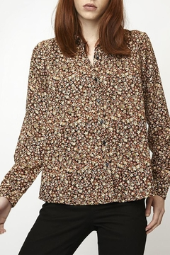Compania Fantastica Brown Floral Shirt - Product List Image