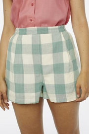 Compania Fantastica Check Darted Shorts - Product Mini Image