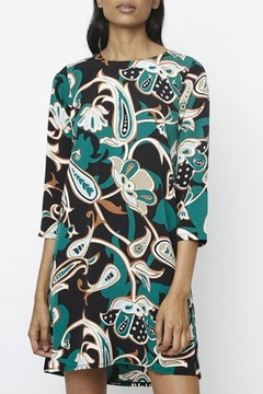 Compania Fantastica Green Flower Dress - Product List Image