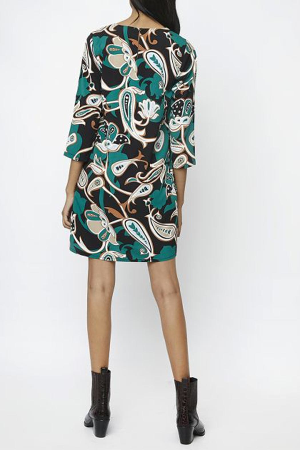 Compania Fantastica Green Flower Dress - Side Cropped Image