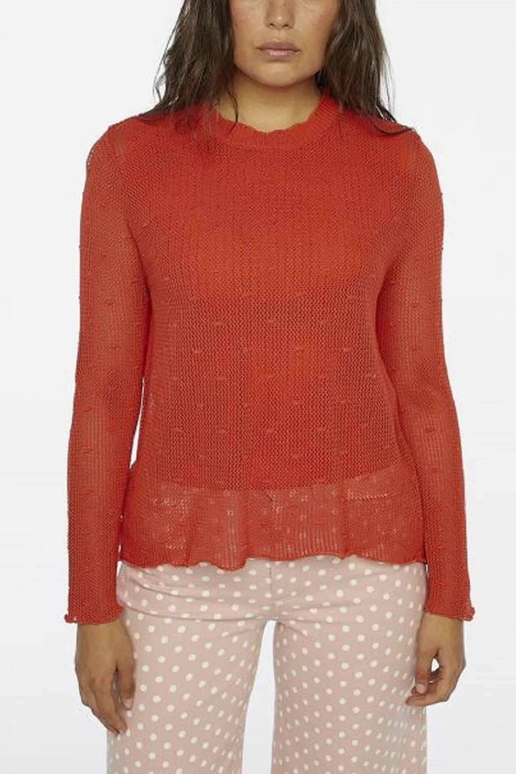 Compania Fantastica Knit Loose Top - Front Cropped Image