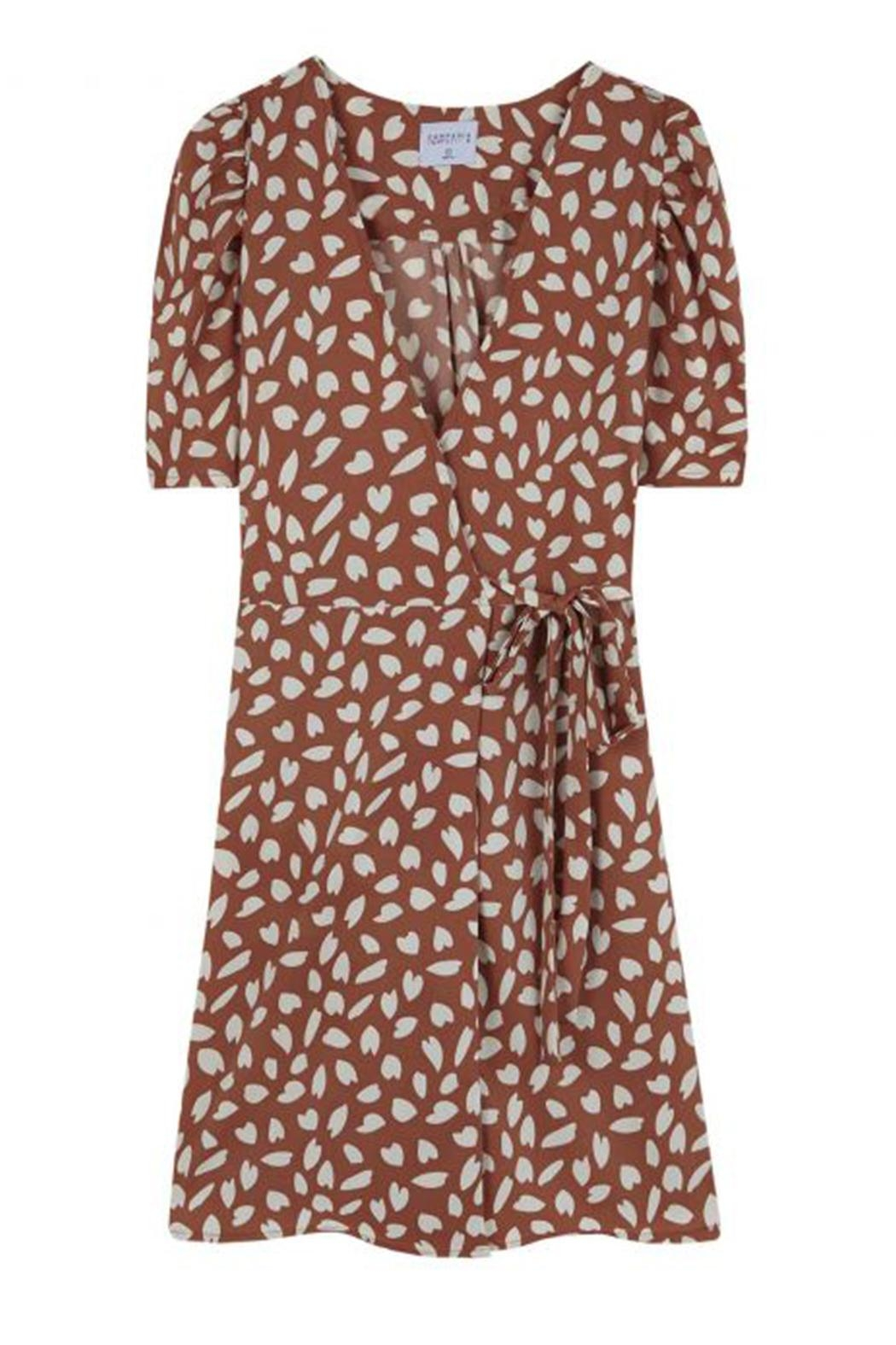 Compania Fantastica Petal Wrap Dress - Back Cropped Image