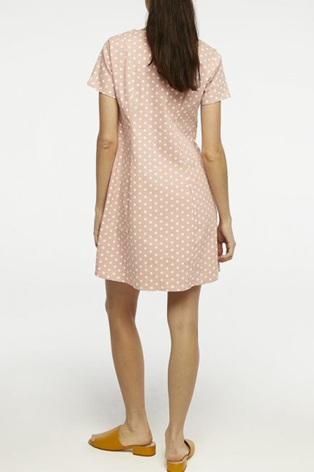 Compania Fantastica Polka Dot Dress - Back Cropped Image