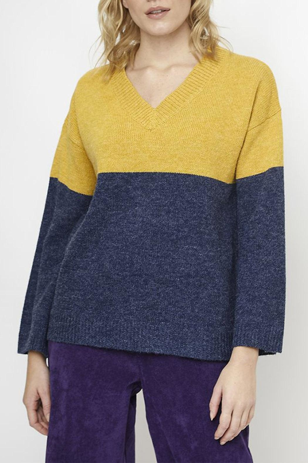Compania Fantastica Wide Knit Jumper - Front Cropped Image