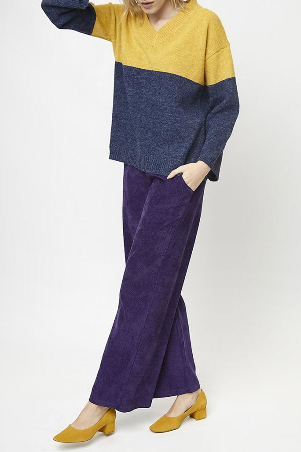 Compania Fantastica Wide Knit Jumper - Back Cropped Image