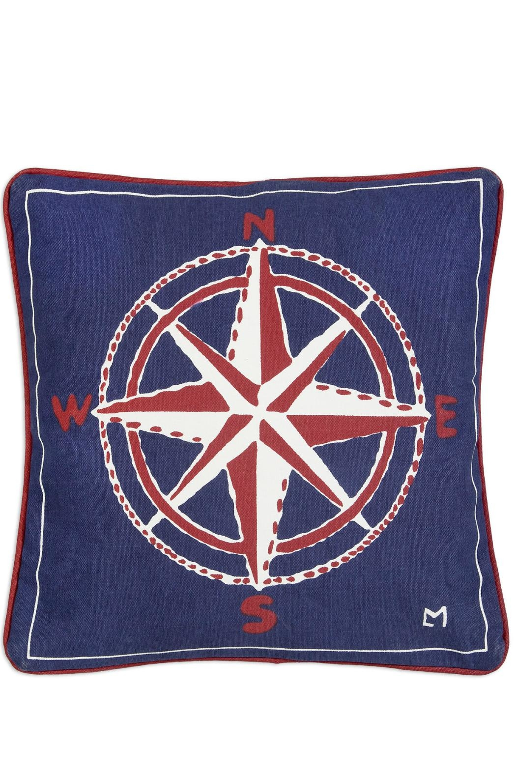 Chandler 4 Corners Compass Canvas Pillow - Main Image