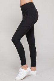 Compendium Black Athletic Leggings W/ Pockets - Front cropped