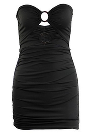 Compendium Black O-Ring Bandage Dress - Product Mini Image