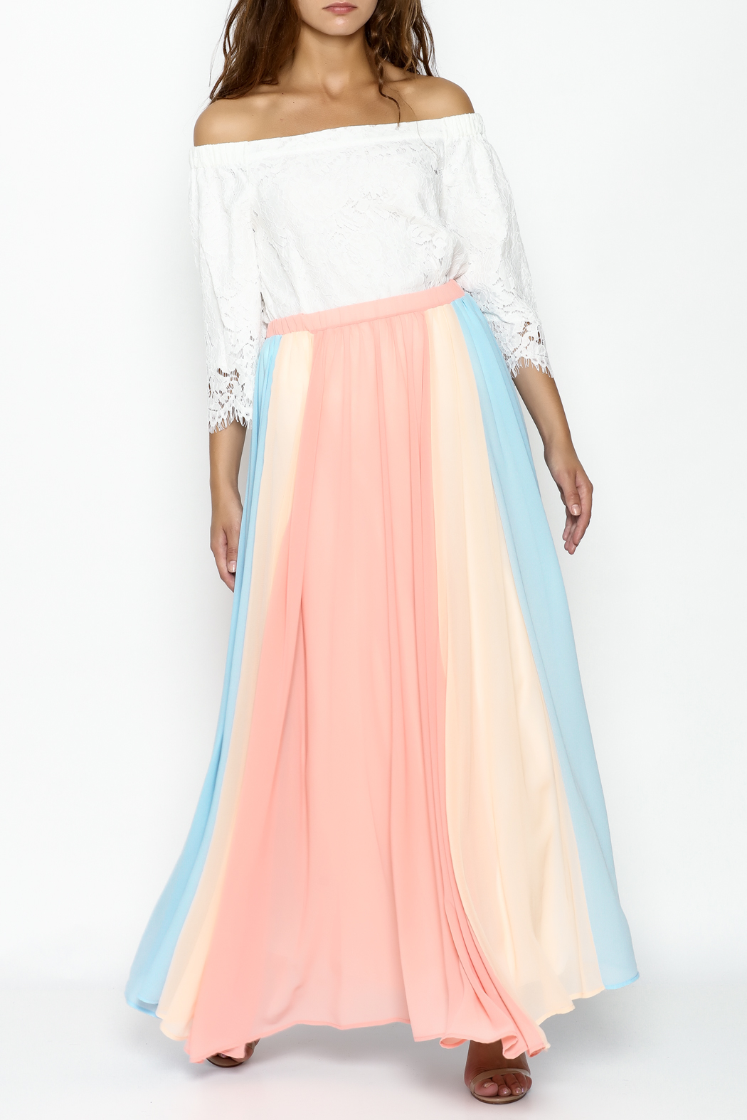 Compendium boutique Gypsy Chiffon Maxi Skirt - Side Cropped Image