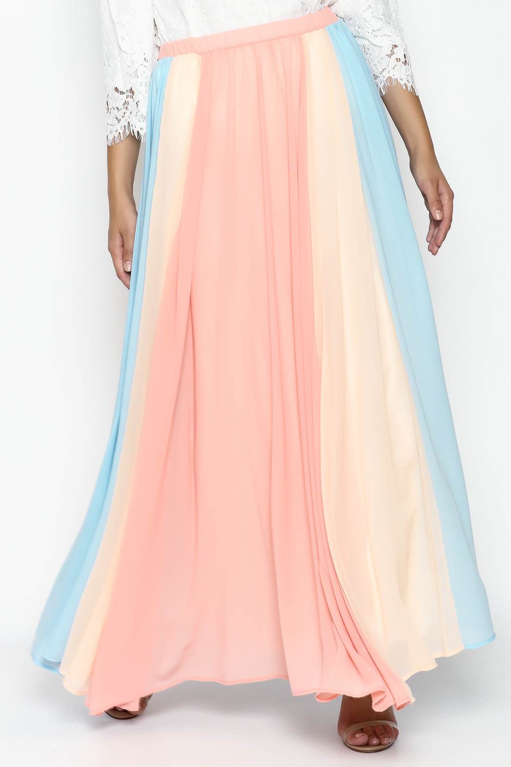 compendium boutique chiffon maxi skirt from